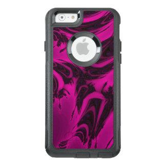 Rosa und schwarzes Fraktal OtterBox iPhone 6/6s Hülle