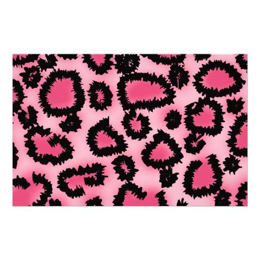 Rosa und schwarzes Leopard-Druck-Muster Bedrucktes Büropapier