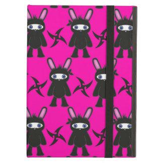 Rosa und schwarzes Ninja Häschen-Muster