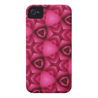 Rosa und stilvolles BlackBerry-mutige Abdeckung iPhone 4 Cover