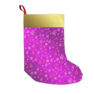 Rosa und Strumpf der Goldfrohen Weihnachten Kleiner Weihnachtsstrumpf