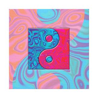 Rosa und Türkis Yin Yang Symbol Leinwanddruck