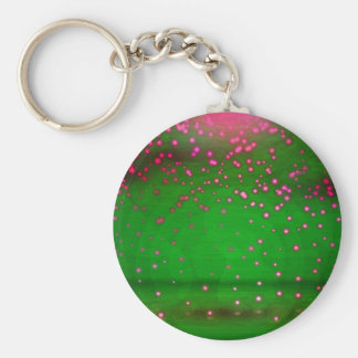 Rosa-und violetteflackernde Lichter Standard Runder Schlüsselanhänger