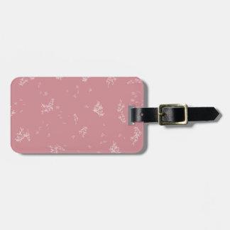 Rosa-und Weiß-Blätter Gepäckanhänger