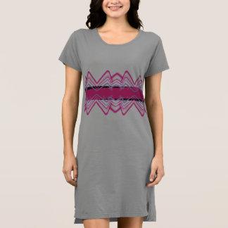 Rosa-und Weiß-KleiderPop-Kunst-Neon-Spaß Kleid