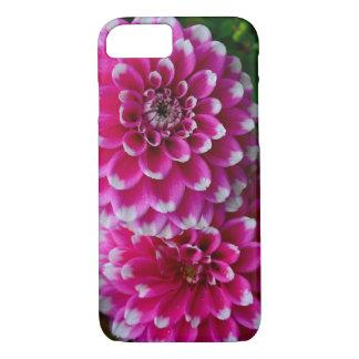 Rosa und weiße Dahlie-Blumen iPhone 8/7 Hülle