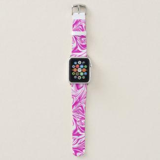 Rosa und weiße flüssige Digital-Kunst Apple Watch Armband