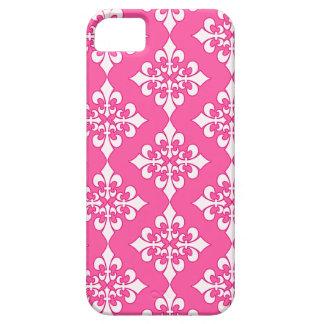 Rosa und weiße Lilien-Muster-Telefon-Abdeckung iPhone 5 Etuis