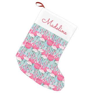 Rosa und weiße Menge der Flamingos | addieren Kleiner Weihnachtsstrumpf