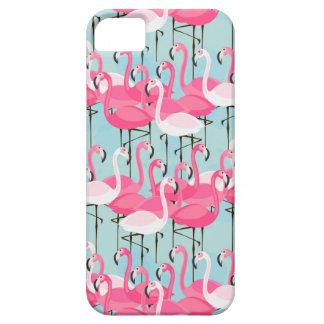 Rosa und weiße Menge der Flamingos iPhone 5 Schutzhülle