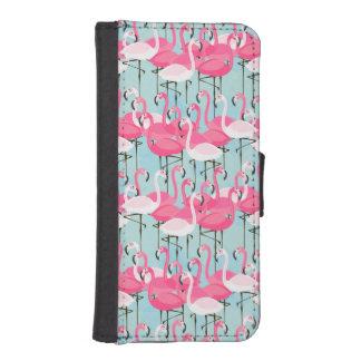 Rosa und weiße Menge der Flamingos iPhone SE/5/5s Geldbeutel