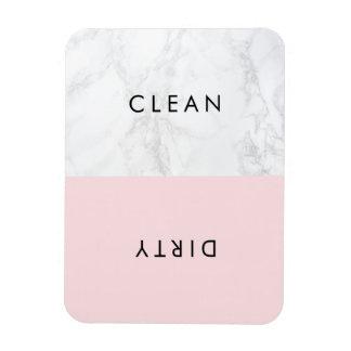 Rosa und weiße moderne magnet