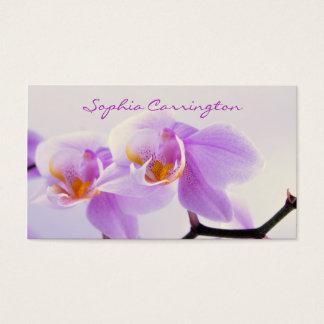 Rosa und weiße Orchideen Visitenkarten