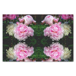 Rosa und weiße Pfingstrosen Seidenpapier