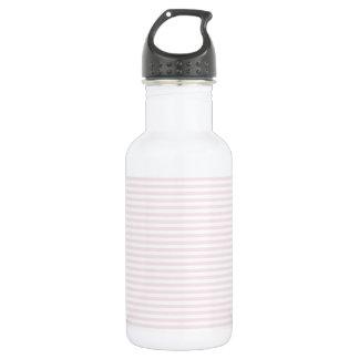 Rosa und weiße Streifen - Wasserflasche