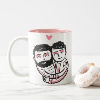 rosa und weiße Tasse Gay Pride Valentines Tages