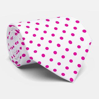 Rosa und weiße Tupfen-Krawatte Krawatte
