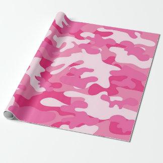 Rosa und weißer Camouflage-Entwurf Geschenkpapier