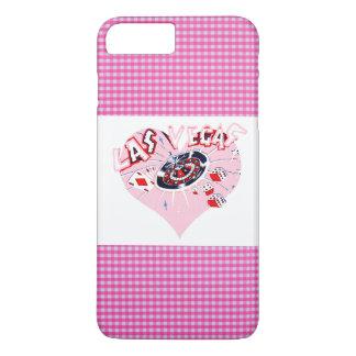 Rosa und weißer Karo Las Vegas iPhone 8 Plus/7 Plus Hülle