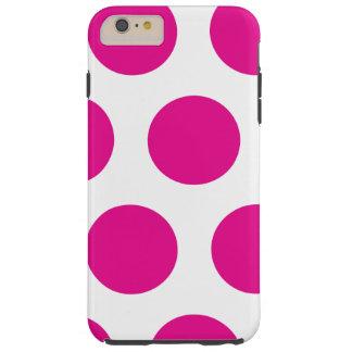 Rosa und weißer Punkt Tough iPhone 6 Plus Hülle