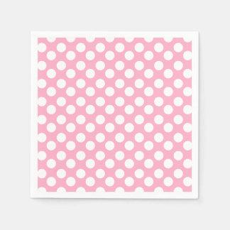 Rosa und weißer Tupfen-Papierserviette Servietten