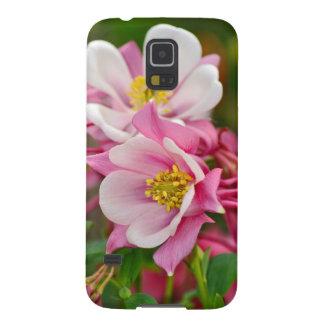 Rosa- und weißercolumbine Blumendruck Samsung Galaxy S5 Hülle