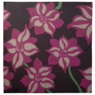 Rosa und weißes Dahlie-Muster Stoffserviette