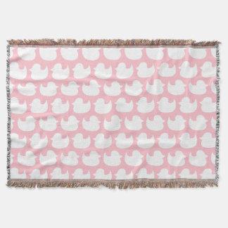 Rosa und weißes Enten-Muster Decke