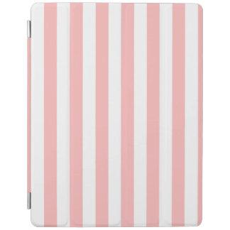 Rosa und weißes Streifen-Muster iPad Hülle