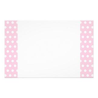 Rosa und weißes Tupfen-Muster Büropapiere