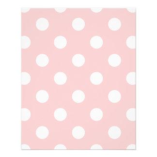 Rosa und weißes Tupfen-Muster Flyer