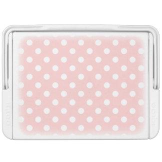Rosa und weißes Tupfen-Muster Kühlbox