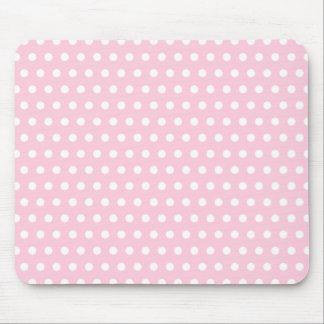 Rosa und weißes Tupfen-Muster. Spotty. Mousepad