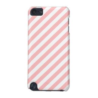Rosa-und weißesdiagonales Streifen-Muster iPod Touch 5G Hülle