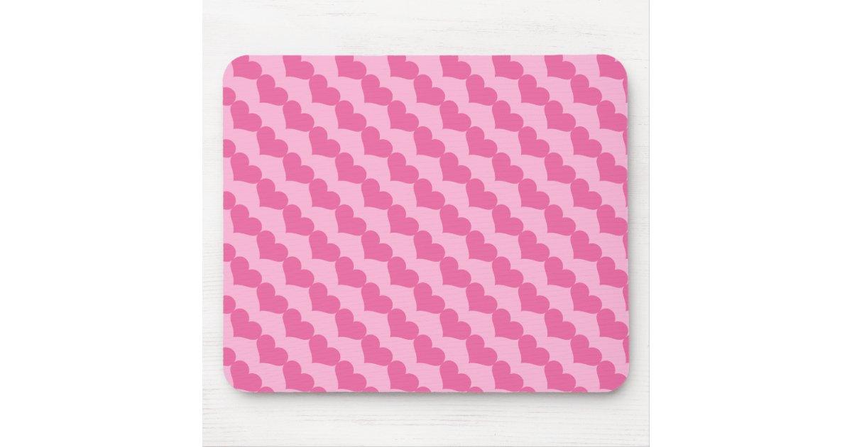 rosa valentinsgru herz muster mousepad zazzle. Black Bedroom Furniture Sets. Home Design Ideas