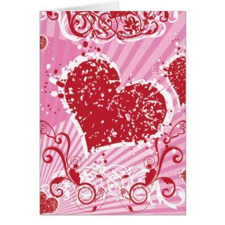 Rosa Valentinsgruß-Neigung Karte