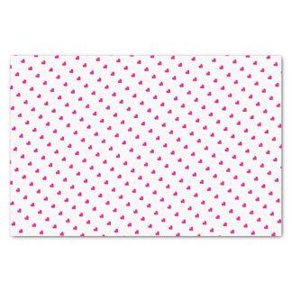 Rosa Valentinstag-Herz-Seidenpapier Seidenpapier