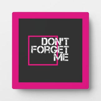 Rosa vergessen mich nicht grafische Typografie Fotoplatte