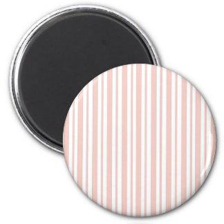Rosa Verticall Nadelstreifen Runder Magnet 5,1 Cm
