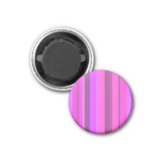 Rosa vertikale Streifen Runder Magnet 2,5 Cm