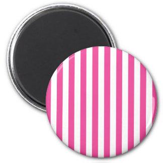 Rosa vertikale Streifen Runder Magnet 5,7 Cm