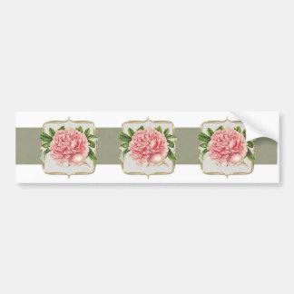 Rosa Vintage Blumen weit Autoaufkleber