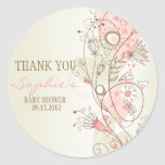 Rosa Vintage Blumenbaby-Dusche danken Ihnen Aufkle