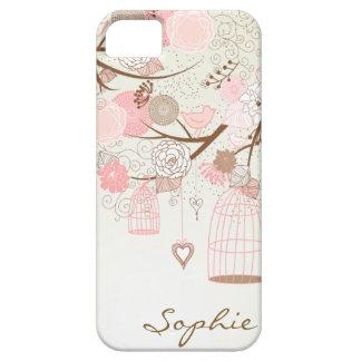 Rosa Vintage BlumenBirdcages kundenspezifischer Hülle Fürs iPhone 5