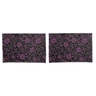 Rosa Vintage Blumendamast-Kissenbezüge Kissen Bezug