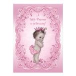 Rosa Vintage Dusche Prinzessin-Baby Personalisierte Ankündigung