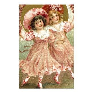 Rosa Vintage Freundschaft des Valentines Tages Briefpapier