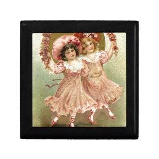 Rosa Vintage Freundschaft des Valentines Tages Geschenkbox