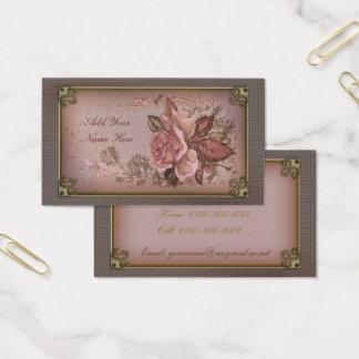 Rosa Vintage Rose Visitenkarte