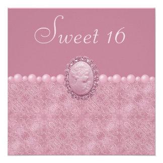 Rosa Vintager Miniatur-u Perlen-Bonbon 16 Ankündigungen